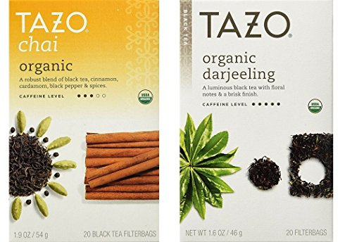 Tazo Organic Tea 2 Flavor Variety Bundle,  each: Chai and Da