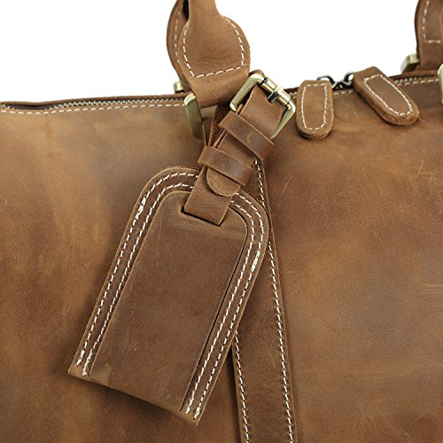Polare Full Grain Leather Classic Duffel Bag Travel Gym Weekend Bag 17.3'' by Polare (Image #6)