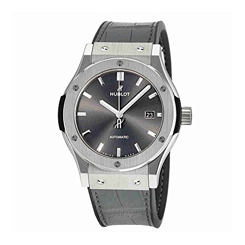 Hublot Mens Classic Fusion Racing Grey Titanium 42mm Watch 542.NX.7071.LR