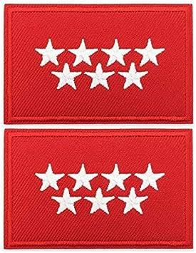 BANDERA DEL PARCHE BORDADO PARA PLANCHAR O COSER (C.O. MADRID) (C.O. MADRID-2): Amazon.es: Hogar