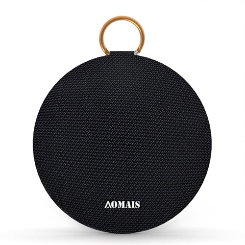 AOMAIS Ball Bluetooth Speakers,Wireless Portable Bluetooth 4.2,15W Superior Sound with DSP,Stereo Pairing for Surround Sound,Waterproof Rating IPX7,For Sports,Travel,Shower,Beach,Party (BLACK)