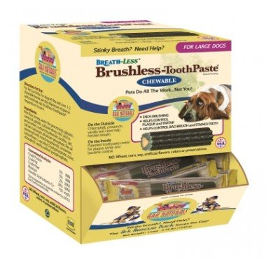 Chewable Toothpaste Brushless (Ark Naturals Breath-Less Brushless-Toothpaste - Chewable - Large Dogs - Case of 30)