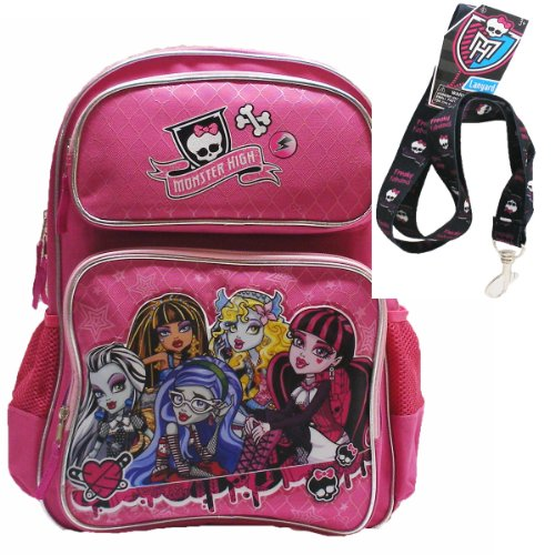 Monster High Large Pink Backpack 16