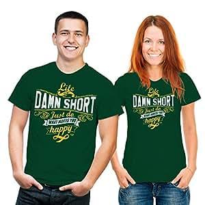 Damn Short–Camiseta de–Textiles L