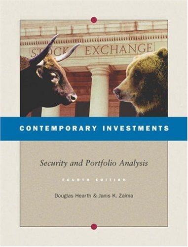 Portfolio Hearth - Contemporary Investments: Security and Portfolio Analysis by Douglas Hearth (2003-07-08)