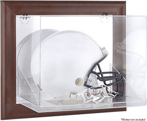 Arkansas Razorbacks Brown Framed Wall-Mountable Helmet Display Case - Fanatics Authentic Certified - College Football Helmet Logo Display Cases by Sports Memorabilia