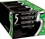5 Gum Sugar Free Gum, RainSpearmint, 15 Piece Pack (10 Packs)