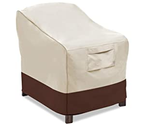 Vailge Patio Chair Covers, Lounge Deep Seat Cover, Heavy Duty and Waterproof Outdoor Lawn Patio Furniture Covers, Medium Beige & Brown