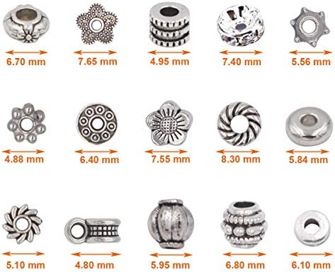 A bag of 51015pcs Mini GoldSilver Plated Crown Bead DIY Charm Spacer Beads Fit Bracelet DIY Making