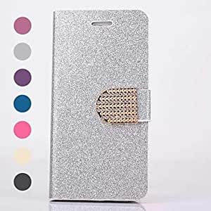 Mini - Bling Bling Pattern PU Leather Cover with Card Slot for iPhone 6 , Color-Blue