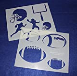 Football Stencils Mylar 2 Pieces of 14 Mil 8'' X 10'' - Painting /Crafts/ Templates