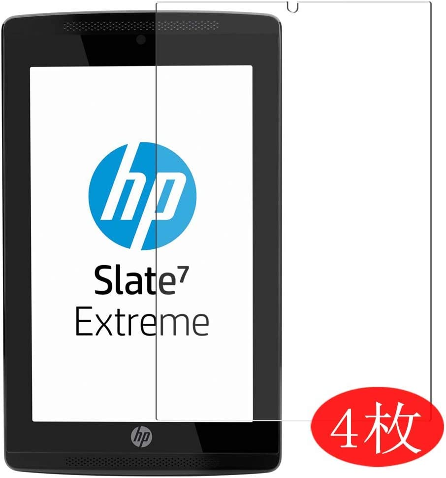 """【4 Pack】 Synvy Screen Protector for HP Slate 7 Extreme 7"""" Slate7 0.14mm TPU Flexible HD Clear Case-Friendly Film Protective Protectors [Not Tempered Glass] New Version"""