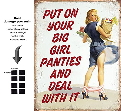 Shop72 - Tin Sign Humorous Sarcasm Funny Vintage Tin Signs For Home Garage Dorm - Put On Your Big Girl Panties