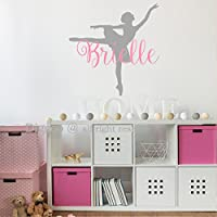 Ballerina Wall Decal - Personalized Girls Name Wall Sticker for Girls Bedroom Decor - Ballet Dancer Wall Decor - Dance Wall Decal