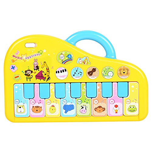 NextX Baby Musical Toys, Infant Play Piano Keyboard with Animal Sounds, Preschool Learning Toys for Toddlers