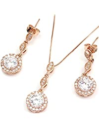 FC JORY White & Rose Gold Plated Diamante Crystal CZ...
