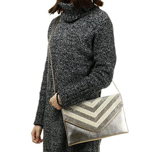 femme Noir Evening Pochette YYW pour Bag 7waqzp1