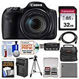 Canon PowerShot SX540 HS Wi-Fi Digital Camera with 32GB Card + Case + Battery & Charger + Tripod + Kit For Sale