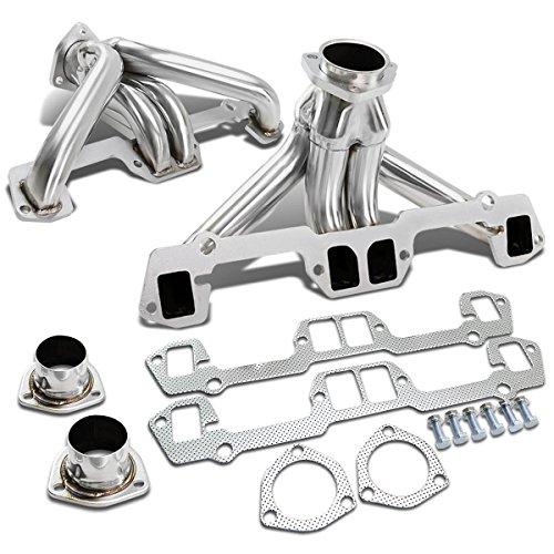 (For Chrysler Small Block 2x4-1 Design Stainless Steel Exhaust Header Kit (Polished Chrome) V8)