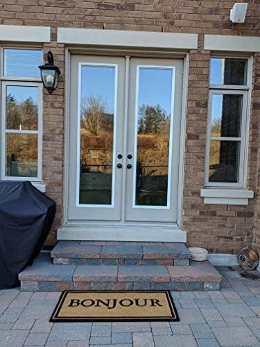 All Natural Coir Door Mats Gift 24 X 48 Inches Entrance Deck Patio Floor Door Indoor and Outdoor with PVC Slip Free Rubber Back Bonjour