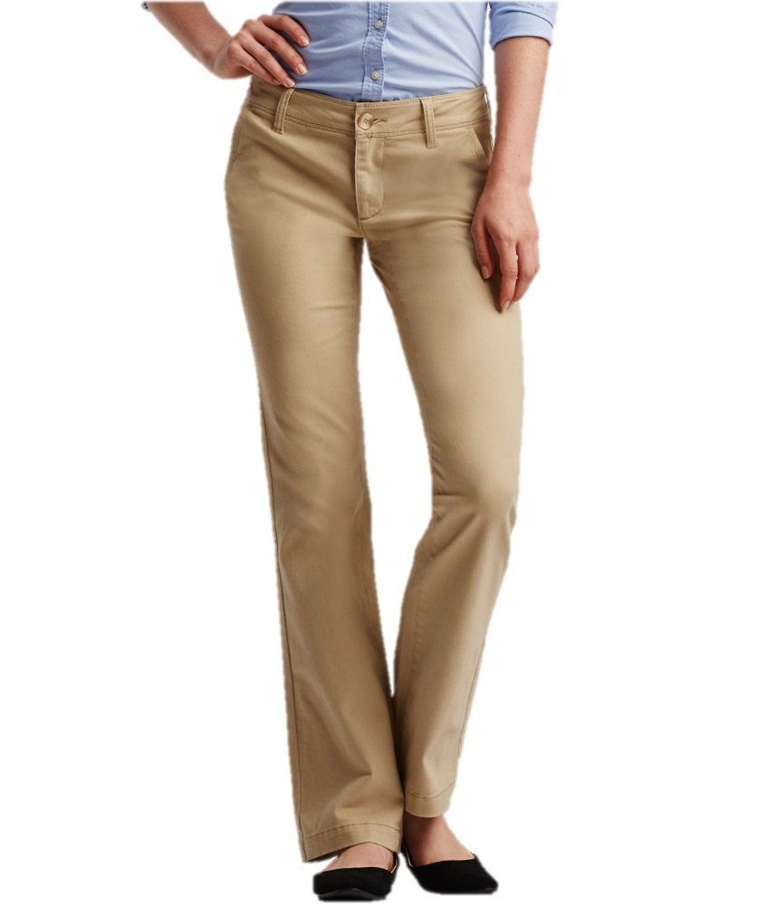 Aeropostale Womens Curvey Classic Khaki Pants 251 00R