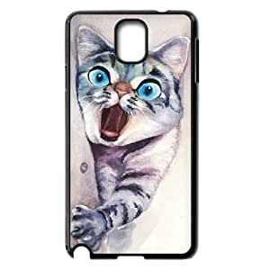 Watercolor cat Personalized Phone Case for Samsung Galaxy Note 3 N9000,custom Watercolor cat Case