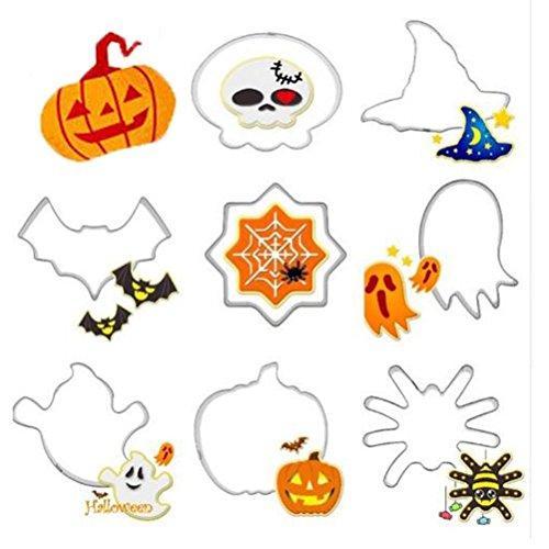 Moldes creativos WeiMay para galletas, de formas divertidas de calabaza, bruja, moldes para Halloween de acero inoxidable, cortador de fruta, ...