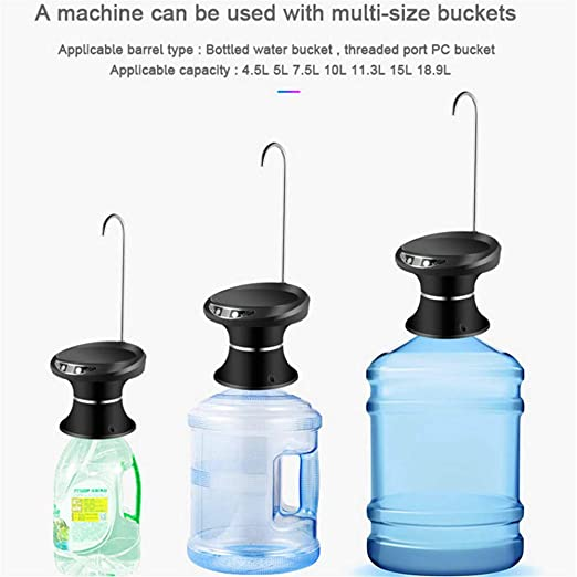 Kbxstart Automatic Electric Portable Water Pump Dispenser Gallon Drink Bottle Switch Mini Dispensador De Agua Fria Embotellada (Silver) - - Amazon.com