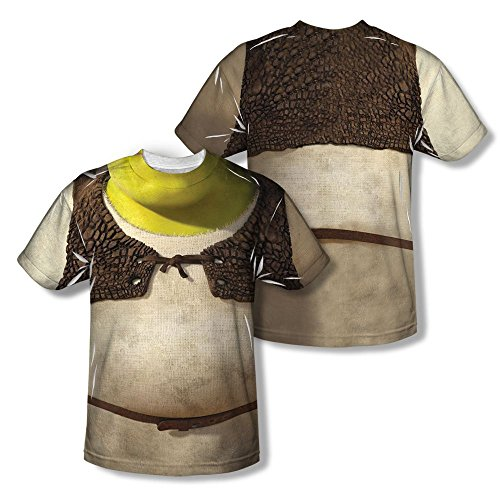 Sons of Gotham Shrek Costume Adult All Over Print 100% Poly T-shirt 3xl ()
