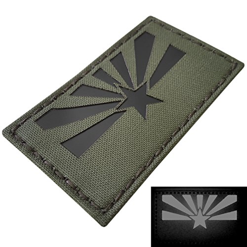 OD Green IR Arizona Flag 3.5x2 Infrared Olive Drab IFF Tactical Morale Hook&Loop Patch