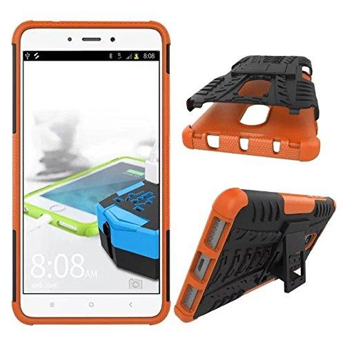 OFU®Para MOTO Z2 Play 5.5 Smartphone, Híbrido caja de la armadura para el teléfono MOTO Z2 Play 5.5 resistente a prueba de golpes contra la lucha de viaje accesorios esenciales-azul naranja