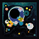 """This 40"""" x 40"""" framed giclee art print on canvas of Sketch for Several Circles by Wassily Kandinskyis created on the finest quality artist-grade canvas, utilizing premier fade-resistant archival inks that ensure vibrant lasting colors for years to c..."""