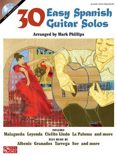 30 Easy Spanish Guitar Solos Gtr Book/Cd by Various (2008) Paperback