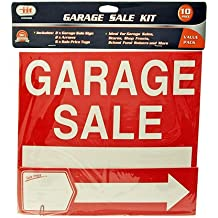 Garage Sale Signs an Tags 4 Signs, 4 Arrows, 12 Sale Price Tags for Yard Sale