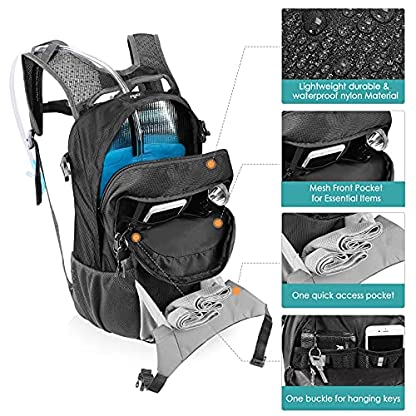 Kuyou Insulated Hydration Backpack,Large Capacity Hydration Pack With 2L Leakproof Hydration Bladder Lightweight Water… 5