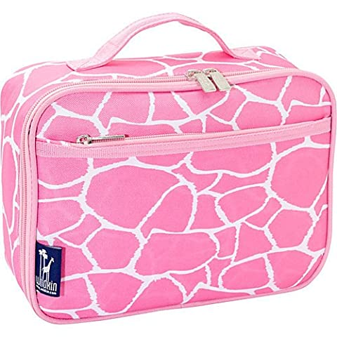 Wildkin Pink Giraffe Lunch Box. Cute, lunch, box, cool, personalized, kids, compartments, toddler - Dots Personalized Lunch Box