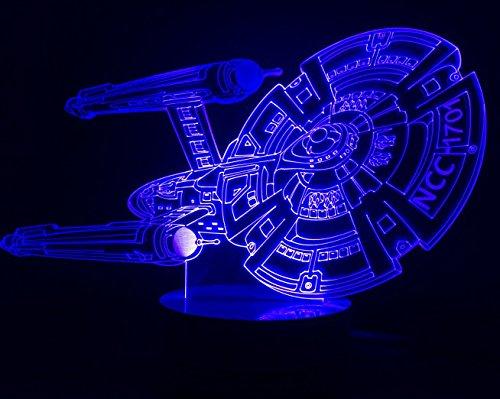 Star Trek Enterprise ncc-1701 ship Multiple color changing visual illusion LED lamp Night Light Avengers USB Light...