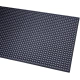 """Durable Corporation Rubber Workstation Plus Anti-Fatigue Mat, For Wet Areas, 36"""" Width x 240"""" Length x 1/2"""" Thickness, Black"""