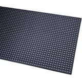 "Durable Corporation Rubber Workstation Plus Anti-Fatigue Mat, For Wet Areas, 1/2"" Thickness"