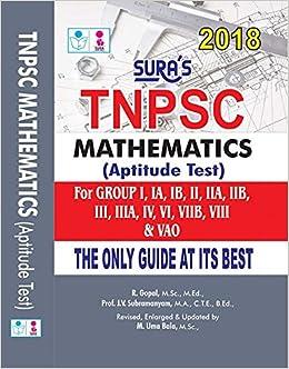 Buy TNPSC Mathematics Aptitude Test Guide (I, II, IIA, I, AO