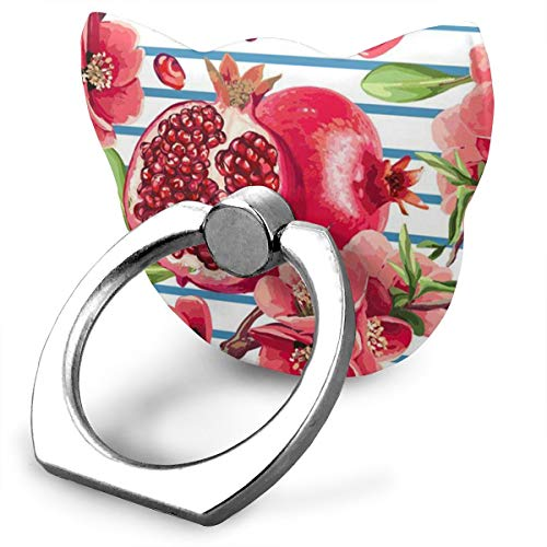 (LRNXISAV Pomegranate Phone Cat Type Ring Holder Finger Kickstand -360¡ã Rotation Metal Ring Grip for Magnetic Car Mount Compatible with All Smartphone )