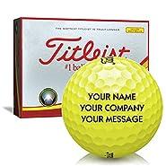 Titleist DT TruSoft Yellow Personalized Golf Balls