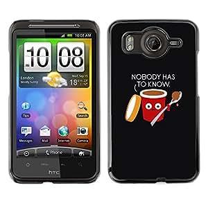 TopCaseStore / la caja del caucho duro de la cubierta de protección de la piel - Food Black Quote Funny - HTC G10