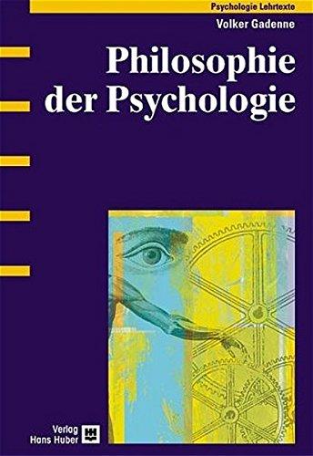 Philosophie der Psychologie Taschenbuch – 26. August 2004 Volker Gadenne Hogrefe AG 345684123X Theoretische Psychologie