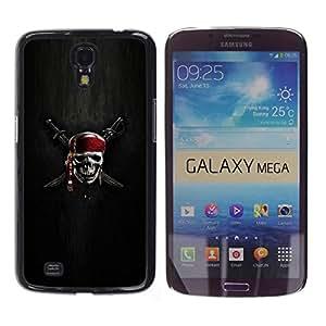 Paccase / SLIM PC / Aliminium Casa Carcasa Funda Case Cover para - Skull Skeleton Pirate Symbol Sign Swords - Samsung Galaxy Mega 6.3 I9200 SGH-i527