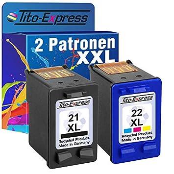 Juego de 2 cartuchos de tinta para HP 21 XL & HP de 22 XL PSC 1410 F4140, F4150, F4172 F4180 F4190, F4194 F4185 F4175 platinumserie