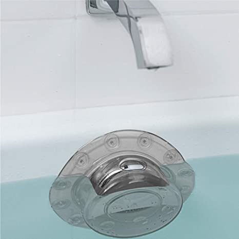 Amazon Com Gorilla Grip Premium Bathtub Overflow Drain Cover Suction Cup Seal Stopper Covers Add Inches Of Water For Deeper Bath For Tub Overflow Drains Gray Transparent Home Kitchen