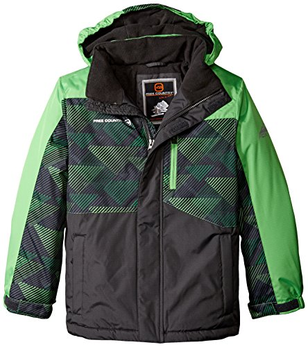 Green Piecing with Coat Country Free Boys' Heavyweight Pop wOq687f
