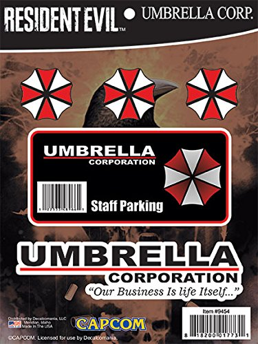 (Resident Evil Umbrella Corporation Hive Parking Sticker Includes 5 Decals for MacBook, Laptop, Vehicle Licensed by Capcom)