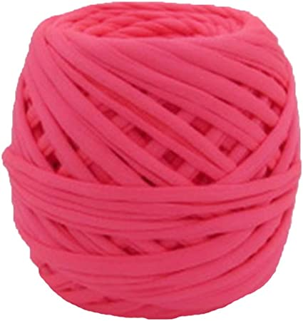 T-shirt yarn 50m  M yarn  Thick spaghetti yarn Fabric yarn 100/% cotton yarn Bulky cotton yarn Solid color t-shirt yarn  50 m 54.7 yards